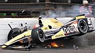 Авария Джеймса Хинчклиффа на тренировке Indy 500 2015 года