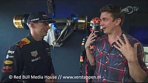 Magician Adam Trent meets Max Verstappen in Zandvoort, 22/05/2017