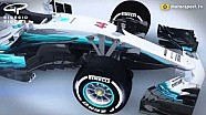 Giorgio Piola - Mercedes W08 nose and bargeboard update Barcelona