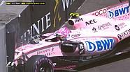 GP de Monaco - Le crash d'Esteban Ocon en EL3 en vidéo