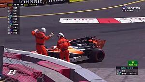 2017 Monaco GP  - Vandoorne Yarış Dışı Kalıyor