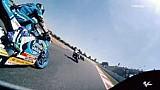 Aksi salip-menyalip Moto2 dan Moto3 di Catalunya