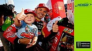 Larson celebrates Father's day win with son Owen