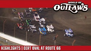 World of Outlaws Craftsman sprint cars dirt oval at Route 66 June 27, 2017 | Highlights