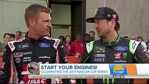 Clint Bowyer & Kurt Busch on NBC's The Today Show - June 28, 2017