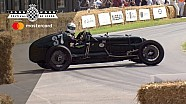 Frazer Nash Monoposto uit 1935 spint in Goodwood