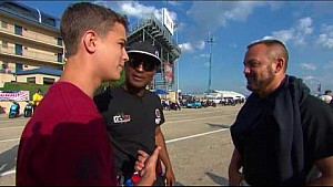 Antron Brown gets mic'd up in the staging lanes