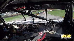Adam Andretti 1st lap in his TA2 car at  Mid Ohio