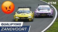 Incident Glock en Mortara tijdens kwalificatie 2 DTM Zandvoort 2017