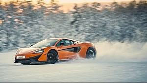 Dancing on ice - What it's like to drive the McLaren 570S on a frozen lake