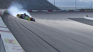 Kyle Busch goes for a spin in final practice