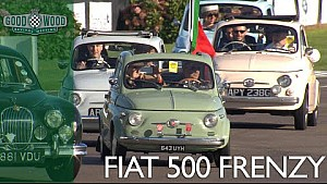 Over 100 Fiat 500s at Revival