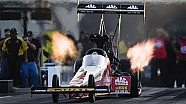 Doug Kalitta races to the top of the pack Friday in Charlotte