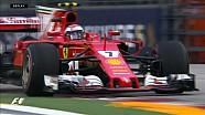 2017 Singapur GP FP3 - Singapur'da Sürücülerin Zorlandığı Anlar