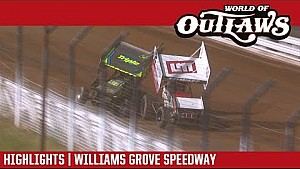 World of Outlaws Craftsman sprint cars Williams Grove speedway September 28, 2017 | Highlights