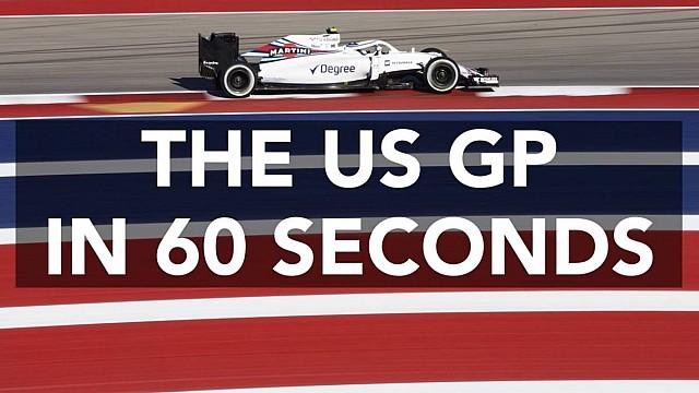 Formula 1 US GP in 60 seconds