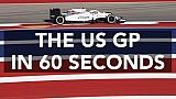 Der US-Grand-Prix in 60 Sekunden