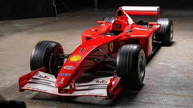 Formule 1 Vidéo : Les détails de la Ferrari F2001 de Schumacher