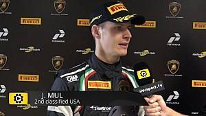 Lamborghini Super Trofeo Round 6 USA Race 2 - Interview with Jeroen Mul