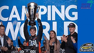 Bell hoists Truck championship trophy in Miami