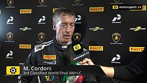 Lamborghini Super Trofeo World Final AM+LC Race 1 - Interview with Mario Cordoni