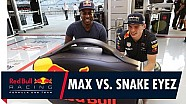 Max Verstappen vs. Snake Eyez en Street Fighter