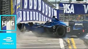 Best Crashes, Spins, Slides and Saves! | 2017 HKT Hong Kong E-Prix