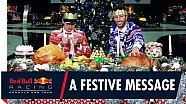A festive message from Daniel Ricciardo and Max Verstappen