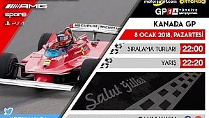 F1 2017 GP1 Türkiye Şampiyonası #5 Kanada GP - CANLI YAYIN
