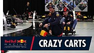 Max Verstappen and Daniel Ricciardo crazy cart the factory