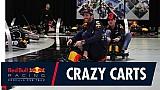 Verstappen e Ricciardo disputam corrida maluca na fábrica da Red Bull