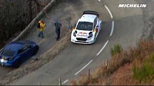 Sébastien Ogier en essais pour le Rallye Monte-Carlo