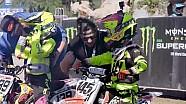 Supercross amateur racing: Daniel and Evan Blair