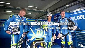 Toni Elias, Josh Waters et Michael Dunlop testent la Suzuki MotoGP