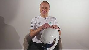 F1-Helm von Valtteri Bottas 2018