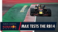 Max Verstappen, el RB14 y Barcelona