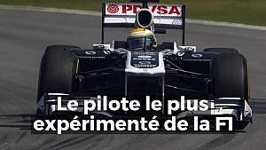 Le pilote le plus expérimenté de l'Histoire de la F1