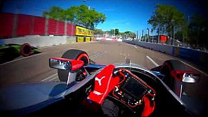 Visor cam: Will Power at the 2018 Firestone Grand Prix of St. Petersburg