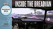 Ferrari Breadvan thrashed by Pirro on board