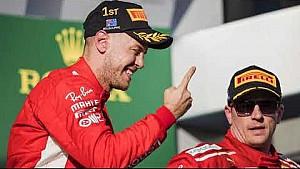 Podium Sebastian Vettel dan Ferrari | GP Australia 2018