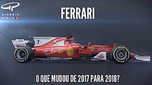 O que mudou na Ferrari de 2017 para 2018?