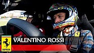 Valentino Rossi al volante del nuevo Ferrari 488 Pista
