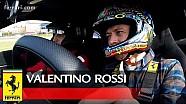 Valentino Rossi al volante della nuova Ferrari 488 Pista