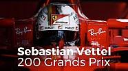 Sebastian Vettel: 200 Grands Prix