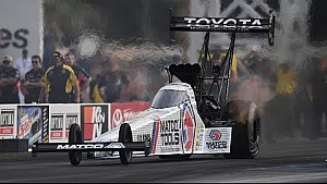 Antron Brown leads the pack in Top Fuel after friday qualifying in Vegas
