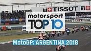 Top 10 momentos GP de Argentina 2018 MotoGP