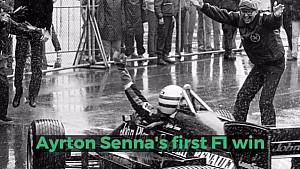 Ayrton Senna's first win