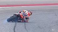 Marc Marquez terjatuh saat kualifikasi | MotoGP Amerika