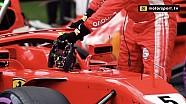 Wat is de extra hendel op het stuur van Vettel?