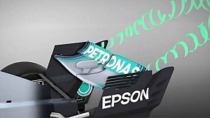 F1-Technik: Mercedes F1 W09, Heckflügel